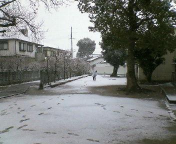 弟と雪合戦⊃=○ ○=⊂